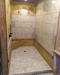 Tiling the master shower